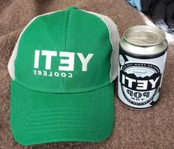 YETI Coolers Trucker Hat and Pop Top Can Brand New Green