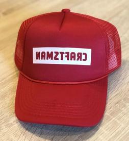 CRAFTSMAN Tools Trucker Hat Cap Shop Racing Red Adjustable N