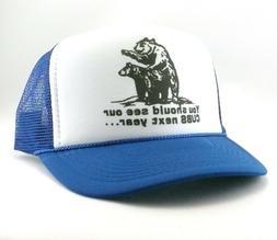 Cubs Trucker Hat mesh hat snapback hat royal blue new vintag