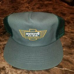 Brixton Cylinder Trucker Hat Cap Green Adjustable One Size N