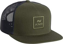 RVCA Men's Dark Olive VA All The Way Trucker Hat