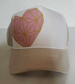 Pistil Darlin Geometric Heart Trucker Hat Sand Women's OSFM