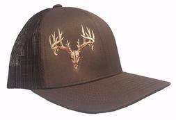 Richardson Deer Skull Snapback Hat, Trucker Cap for Men and