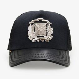 dr shield silver blacktrucker hat