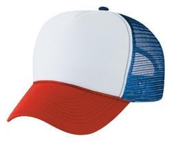 Dustin from STRANGER THINGS Red White & Blue HAT Trucker Cap