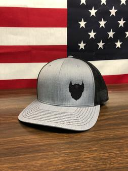 Fear the Beard Hat Richardson 112 Trucker Hat Heather Grey/B