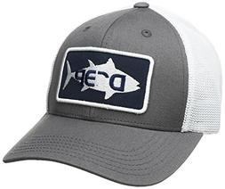 Deep Ocean Fin Tuna Trucker Hat, Grey, S/M