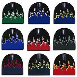 Decky Fire Flame Beanies Caps Hats Short Warm Winter Youth B