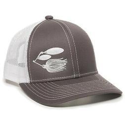 Fish Lure Trucker Hat - Adjustable Baseball Cap w/Plastic Sn