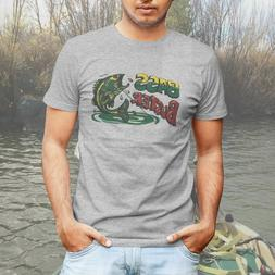 Bass Buster Fishing Derby Vintage Retro Logo Mens Tee T-Shir
