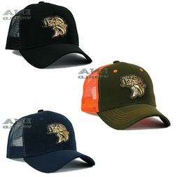 FISHING hat FISH Gold Patched Pique cap Mesh Trucker Snapbac