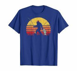 Fishing TShirts For Men FunnyBass Fishing Funny Bigfoot in T
