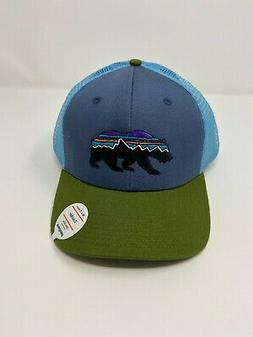 fitz roy bear trucker hat dolomite blue