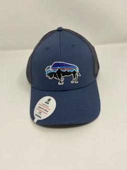 Patagonia Fitz Roy Bison Lopro Trucker Hat - Dolomite Blue -