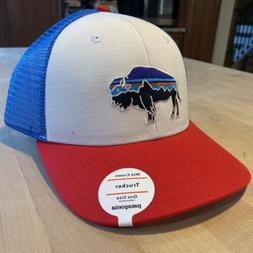 Patagonia Fitz Roy Bison Trucker Hat - New With Tags - White