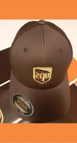 FLEXFIT 6511 TRUCKER MESH CAP UPS EMBROIDERED ON FRONT OF HA