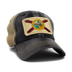 Florida Flag Trucker Hat, Women's Fit, Black