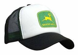John Deere Foam Front Mesh Trucker Hat Black