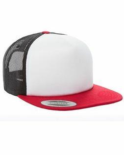 Yupoong Foam Trucker Cap Baseball Hat 6005 Flat Bill - 11 Co