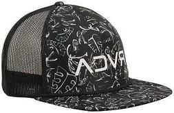 RVCA Foamy Trucker Hat - Black Print - New
