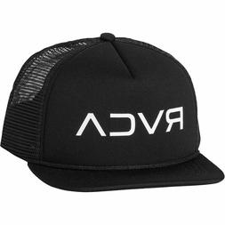 RVCA Mens Foamy Trucker Hat, Black, One Size