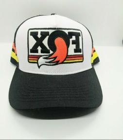Fox trucker hat Vintage Snap back Cap  adjustable black hat