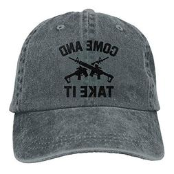 Funny Come and Take It Unisex Baseball Hat Cowboy Cap Sun Ha