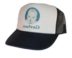 Gerber baby food hat Trucker Hat Mesh Hat Navy Blue new adju