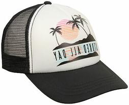 Billabong Girl's Ohana Trucker Hat - Black Pebble - New