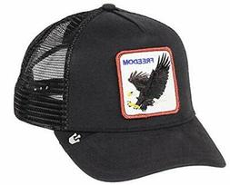 ❤ Goorin Bros Mens Animal Farm Snap Back Trucker Hat Black Eagle One Size Goorin