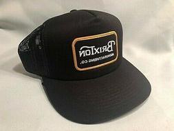 BRIXTON GRADE A MESH TRUCKER BLACK & YELLOW HAT CAP *SHIPS I