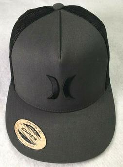 Hurley Gray Black Trucker Hat Mesh Back OSFM Adjustable