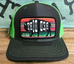Red Dirt Hat Co Neon Green Seraph Buffalo SnapBack Trucker R