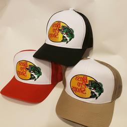 Bass Pro Shops Hat Embroidered Fishing Baseball Trucker Mesh