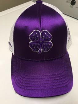 Black Clover Hat Live Lucky Womens Purple Trucker Adjustable