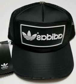 Adidas Hat - New Black Adidas Meshback Trucker Cap - Curved