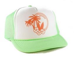 Hawaii Trucker Hat Vacation cap mesh adjustable snapback neo