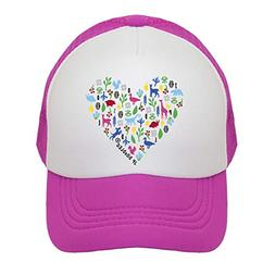 new concept 2bef2 2d6bc Heart on Kids Trucker Hat. The Kids Baseball Cap is Availabl