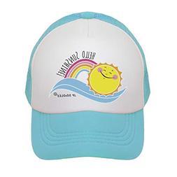 JP DOoDLES Hello Sunshine Kids Trucker Hat.