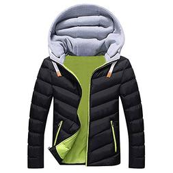 Toimothcn Men Boys Hooded Coat Winter Warm Casual Hat Detach