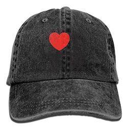 I Love New York Casual Denim Baseball Cap Peaked Cap Hat Adj