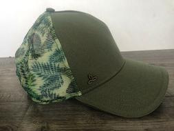 prAna PRANA Idalis Trucker Hat Floral Mesh Snapback Olive Gr