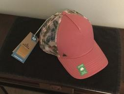idalis trucker peach gerberas women pink mesh