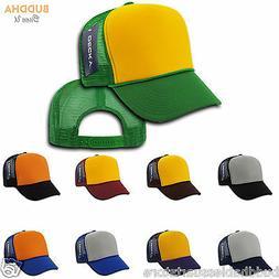 Decky Industrial Foam Trucker 5 Panel Hats Caps Two Tone Mes