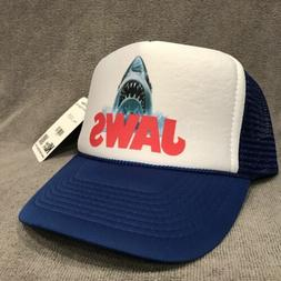 jaws movie trucker hat shark promo logo