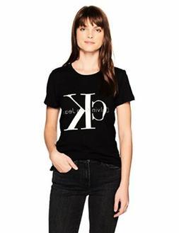 Calvin Klein Jeans Womens Short Sleeve Monogram Logo T-Shirt