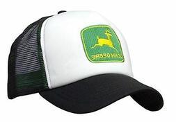 JOHN DEERE *BLACK & WHITE FOAM MESH TRUCKER* Trademark Logo