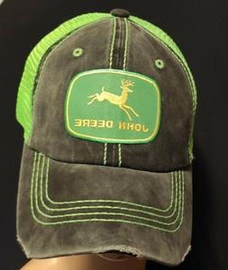 John Deere Trucker Hat John Deere Green Patch with Green Mes