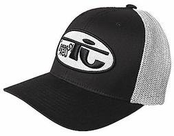 JT Racing USA™ Oval Logo Black/White Cotton Blend Trucker