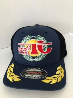 JT Racing USA Trucker Blue Baseball Cap L/XL Flex Fit Hat -